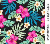 tropical floral editable...   Shutterstock .eps vector #1616546311