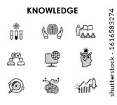 knowledge web icons for website ... | Shutterstock .eps vector #1616583274