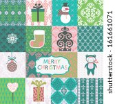 set of christmas and new year... | Shutterstock .eps vector #161661071