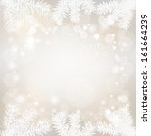 christmas background with lacy... | Shutterstock .eps vector #161664239