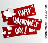 Happy Valentines Day card vector illustration | Shutterstock vector #161664785