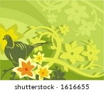 vector background with floral...