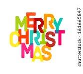 merry christmas card   vector... | Shutterstock .eps vector #161665847