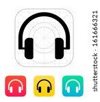 audio headphones icon. vector...