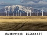 wind farm canada pincher creek... | Shutterstock . vector #161666654