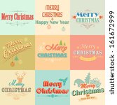 illustration of merry christmas ... | Shutterstock .eps vector #161672999