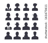 icon set of people avatars | Shutterstock .eps vector #161673611