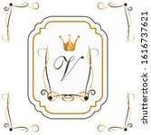 hand draw borders made with... | Shutterstock .eps vector #1616737621