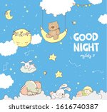 good night collection cute... | Shutterstock .eps vector #1616740387