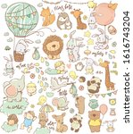 big set with cute animals... | Shutterstock .eps vector #1616743204