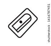 pencil sharpener icon in trendy ...