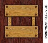 brown wooden banner | Shutterstock . vector #161679281