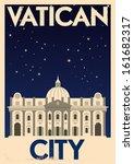 Retro Vatican City Poster