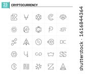 25 cryptocurrency icon set....   Shutterstock .eps vector #1616844364