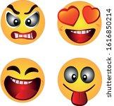 emoji set. joyful  sad  angry... | Shutterstock .eps vector #1616850214