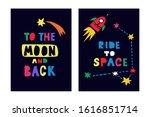 space vector prints for kids.... | Shutterstock .eps vector #1616851714
