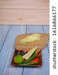 wooden cutting board   with...