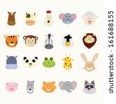 animal heads | Shutterstock .eps vector #161688155