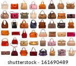 Female Bags Collection On Whit...