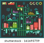 flat style design eco city... | Shutterstock .eps vector #161693759