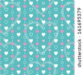 pink blue and white hearts... | Shutterstock .eps vector #161695379