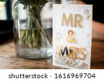 wedding card with fresh floral... | Shutterstock . vector #1616969704