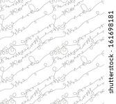 seamless pattern of swirls ... | Shutterstock .eps vector #161698181