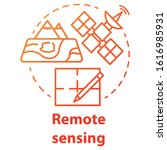 remote sensing concept icon.... | Shutterstock .eps vector #1616985931