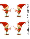 red elf   pointing with candy | Shutterstock .eps vector #161700767