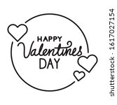 happy valentines day lettering... | Shutterstock .eps vector #1617027154