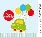 Happy Birthday Design Over Blu...