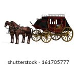 Stagecoach With Horses. Photo...