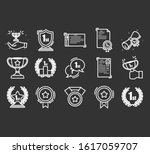 set of awards vector icons. ... | Shutterstock .eps vector #1617059707