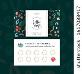 coffee shop loyalty card ...   Shutterstock .eps vector #1617088417