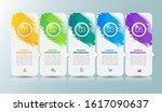 5 steps infographics template... | Shutterstock .eps vector #1617090637