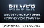 silver alphabet. metallic font... | Shutterstock .eps vector #1617092461