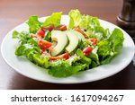 healthy avocado salad with... | Shutterstock . vector #1617094267