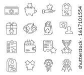 loyalty program line icons set. ...
