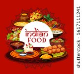 indian traditional food  india...   Shutterstock .eps vector #1617111241