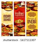 indian restaurant menu covers ... | Shutterstock .eps vector #1617111307