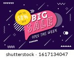 vektor  from sale banner and... | Shutterstock .eps vector #1617134047