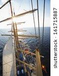 clipper ship in the sea ... | Shutterstock . vector #161715887