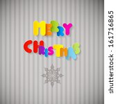 merry christmas colorful title... | Shutterstock .eps vector #161716865