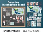 detective board set with text... | Shutterstock .eps vector #1617176221