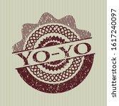 red yo yo distressed rubber... | Shutterstock .eps vector #1617240097