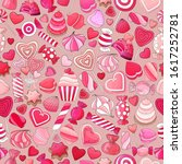 candies and delicious pattern.... | Shutterstock .eps vector #1617252781