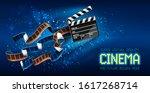 cinema producers clapperboard...   Shutterstock .eps vector #1617268714