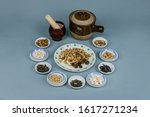 Small photo of Chinese herbal medicine compendium materia medica ceramic static articles