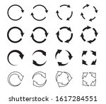 sets of black circle arrows.... | Shutterstock .eps vector #1617284551