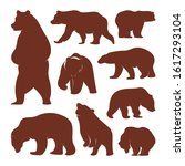 collection of silhouette  bears....   Shutterstock .eps vector #1617293104